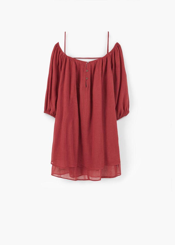 Bawełniana sukienka z rozcięciem