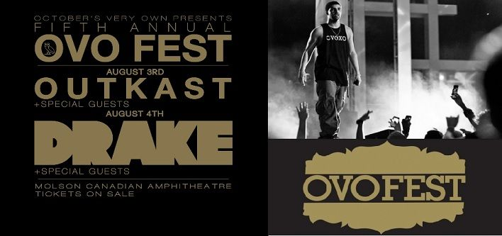 $109 for a Lawn Ticket to OVO Fest on August 3, 2014 OR $189 for August 4, 2014 at the Molson Ampitheatre
