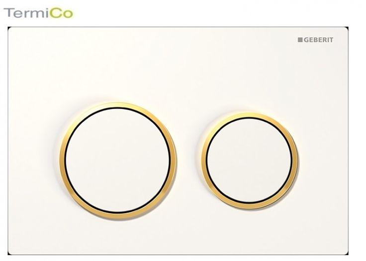 Geberit Omega 20 przycisk spłukujący biały/złocony/bialy 115.085.KK.1