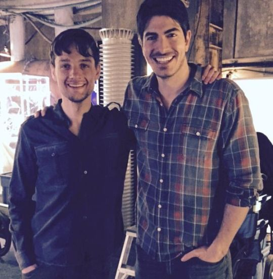Photo of Brandon Routh & his friend actor  Gregory Smith - Los Angeles