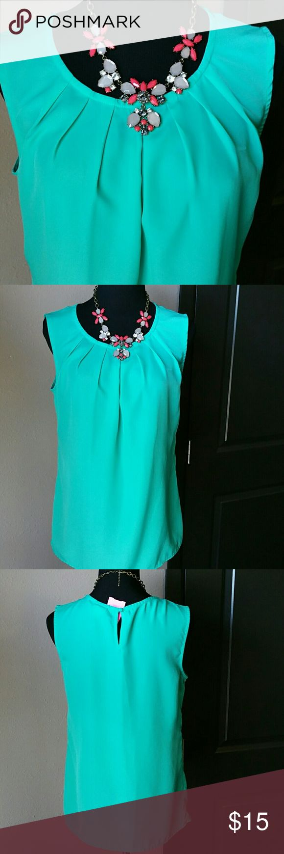 Teal Blouse Teal Blouse, great for spring summer! Merona Tops Blouses