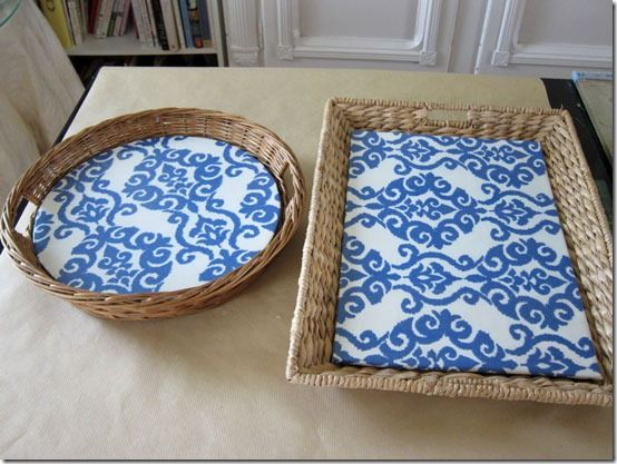 Love the basket inserts. I could use this technique on shelving, Laundry folding board.