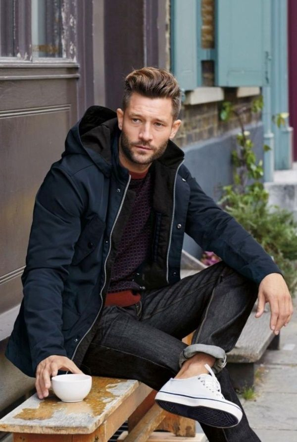 Casual men outfit for everyday life and hairstyle for 2019 /// #everydayoutfit #men #man #casual #everyday -