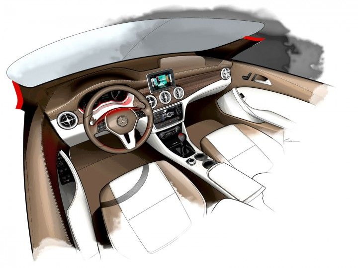 Mercedes-Benz CLA-Class Interior Design Sketch