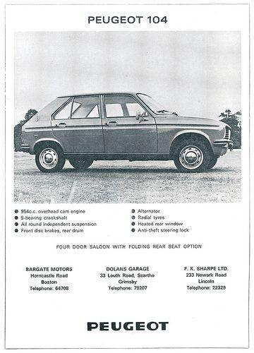 Peugeot 104 ad 1976