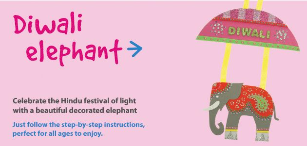 Diwali Elephant | Craft Ideas at Patticrafts // free template// love the elephant for applique on shirt