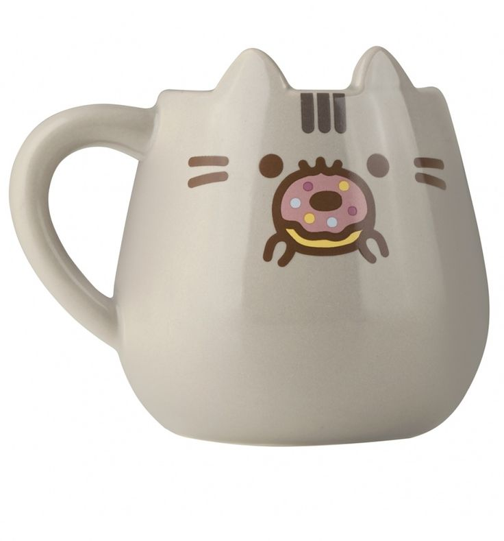 Pusheen + a delicious doughnut = purrrfection! This cute mug features everyone\'s favourite kitty, complete with 3D ears. Definitely one of the sweetest mugs we\'ve ever seen!