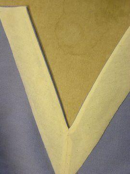como coser cuello en pico