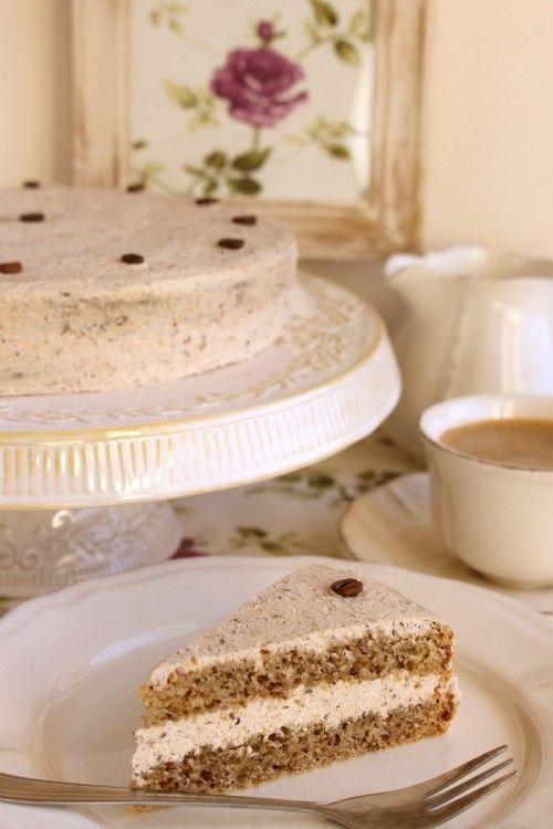 Gesztenyekrémes-kávés torta