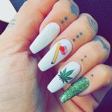 Stay High Weed Nail Decal Set from www.shopstaywild.com #nails #weednails…