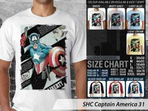 Kaos Captain America Classic, Kaos Film Klasik Captain America, Kaos Captain America Versi Komik, Kaos Captain America Avengers, Kaos Couple Family Captain America