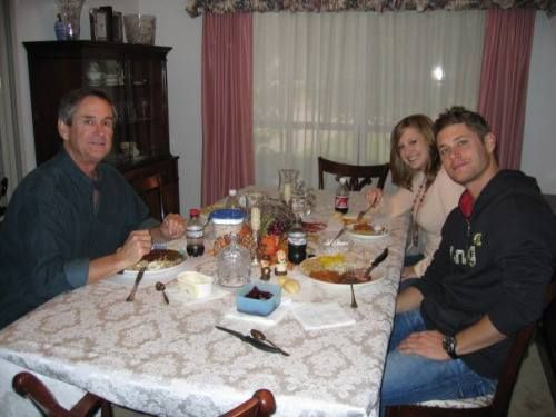 Jensen Ackles with his sister MacKenzie and his dad Mr. Alan Ackles