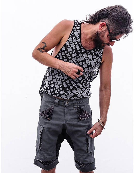 Modern mens trousers Gray cotton Men's Trousers Casual