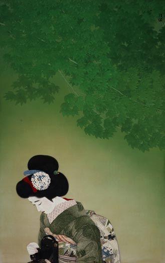 Kitano Tsunetomi(1880〜1947)  「戯れ」