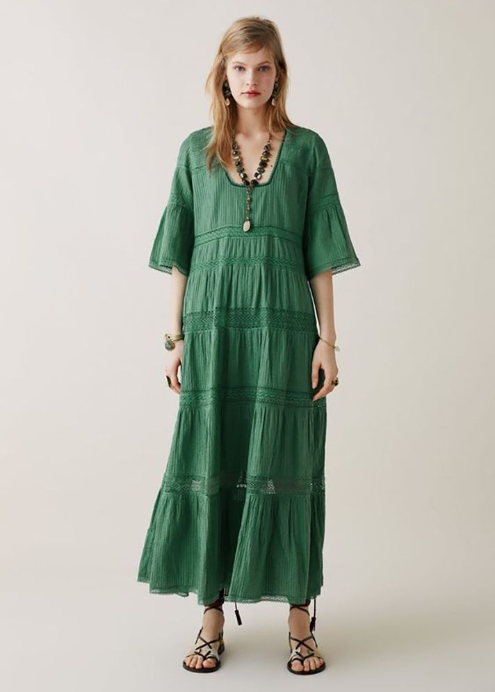 ba73983c60 STYLECASTER | The Best Maxi Dresses to Shop for Spring 2019 | Outfit Ideas  and Inspiration: Limited Edition Zara Studio Embroidered Dress, $169 at Zara