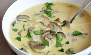 Homemade Cream of Mushroom Soup - Another Root--Kind of Blah!  Jim liked it but I thought it needed more mushroom taste.  Had corn muffins with it--thank goodness!