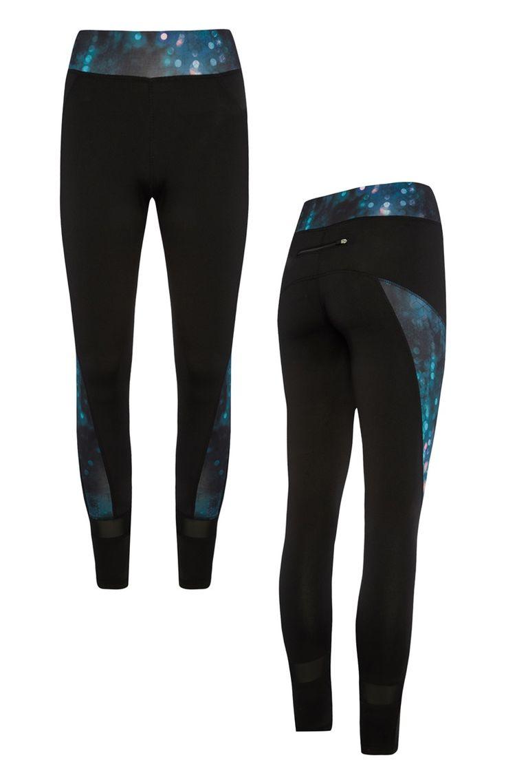 Primark - Black Space Panel Legging
