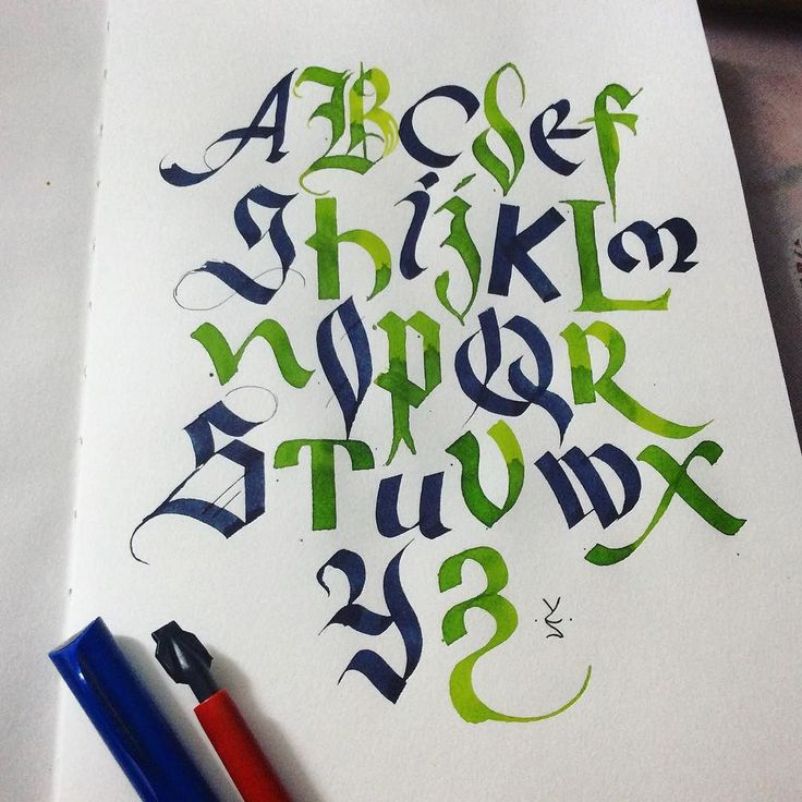 """While I spend time in the village started a new sketchbook with that piece inspired by @calligraphymasters video """"Game of alphabets"""" (check on YouTube). Пока провожу время в деревне начал новый скетчбук с каллиграфии вдохновленной новым видео от @calligraphymasters  #calligraphy #calligraphyart #typespire #type #keepwriting #typeeverything #thedailytype #typism #typeyeah #handwriting #handmadefont #ecoline #каллиграфия"""