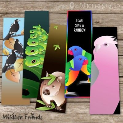 These bookmarks for books will keep you company while you read and also encourage your children to read. Illustrations by Lesley Smitheringale.