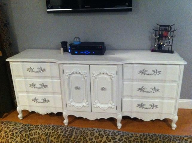 My 1960 thomasville french provincial dresser got it for 100 on craigslist sanded it down Bedroom furniture on craigslist