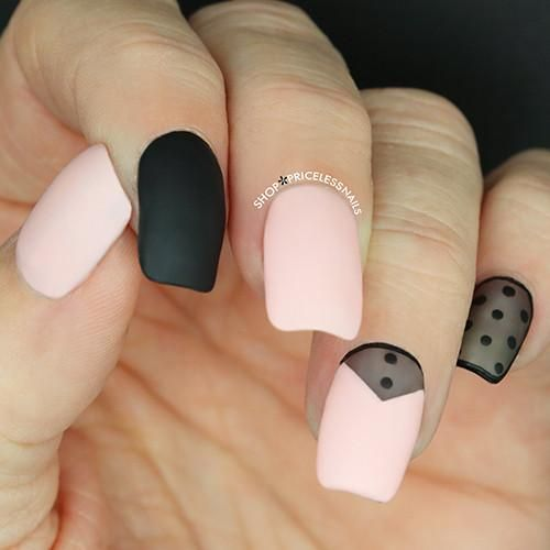 Pink and black is back in a big way! Click Read More to see our top five favorite nail designs using these two complimentary hues!
