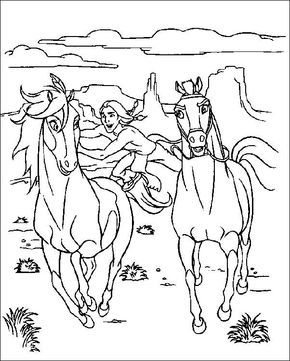 Coloriage Cheval Indien.Free Horse Pictures To Color Horse Western Colouring Pages