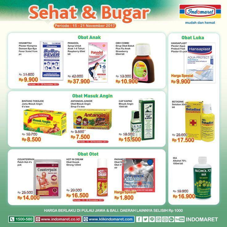 Promo #SuperHemat Sehat & Bugar  Periode : 15 - 21 November 2017 Info lebih lengkap  : https://goo.gl/TNgLbE