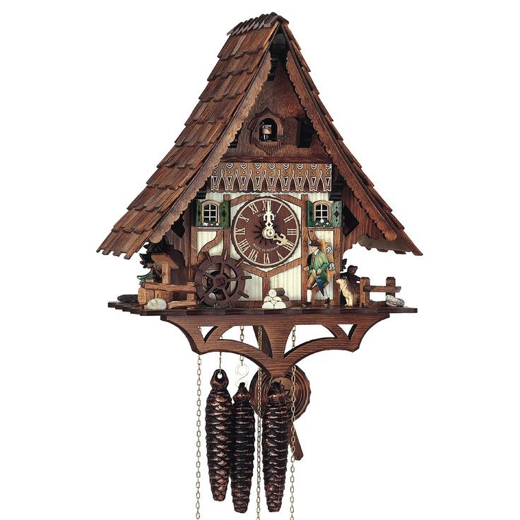 kuckucksuhr aus dem schwarzwald schwarzwaldhaus mit uhrentr ger gr e 34 cm 13 1 2 uhrwerk. Black Bedroom Furniture Sets. Home Design Ideas