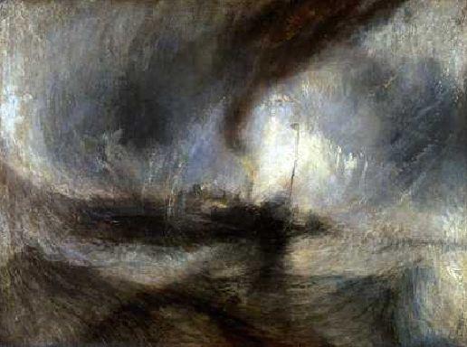 Romantisme : William Turner - Tempête de neige en mer (1842)