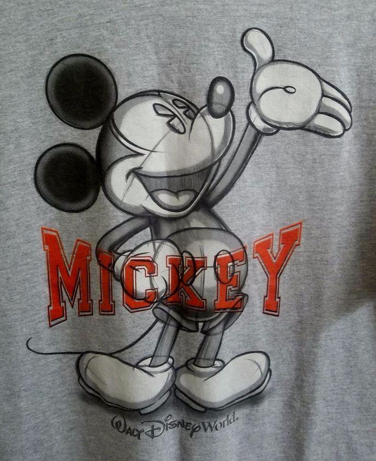 Sketch Mickey Mouse Walt Disney World T-Shirt Adult XL X-Large