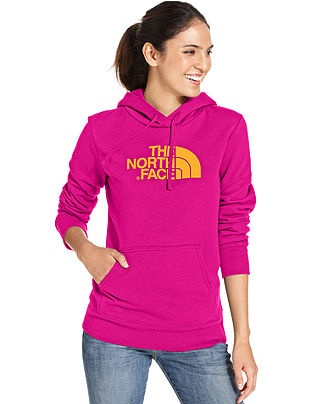 The North Face Top, Half-Dome Logo Hoodie Sweatshirt - Womens Activewear - Macy's