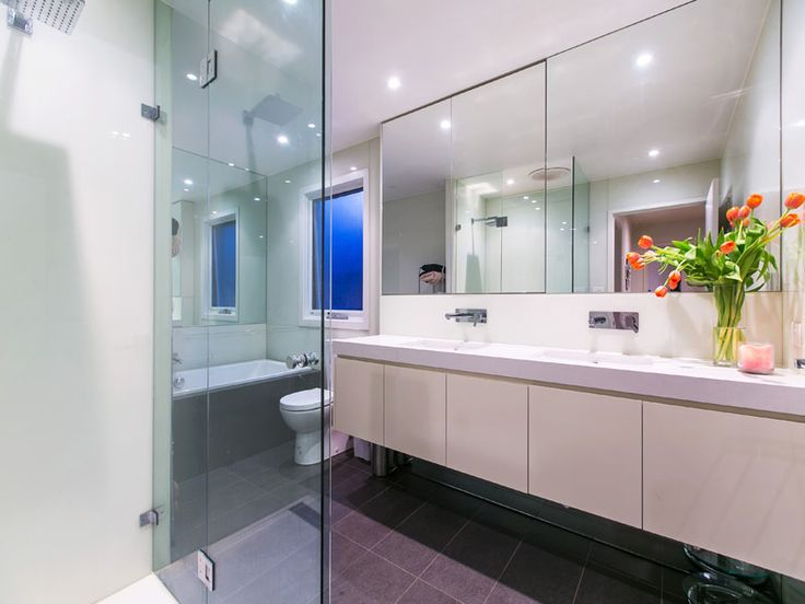 Strickland Drive | Bathroom | Cabinetry | Charcoal Floor tiles | Tapware