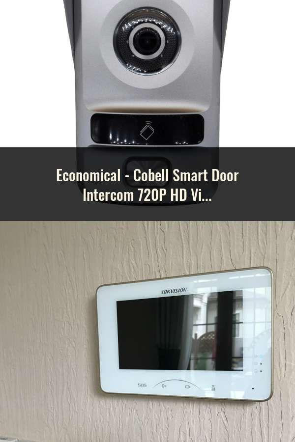Cobell Smart Door Intercom 720P HD Video Door Phone Wireless WIFI Doorbell  Remote Unlock Waterproof IP66