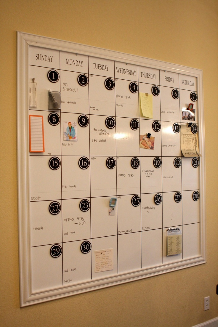 25 Unique Dry Erase Calendar Ideas On Pinterest Dry