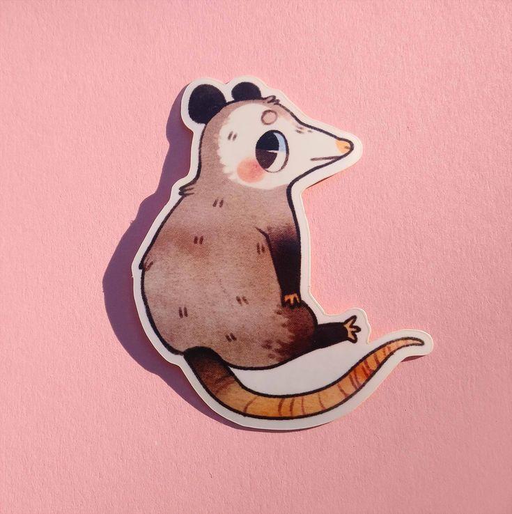 Sitting Possum Stickers   Etsy in 2020   Possum, Drawings ...