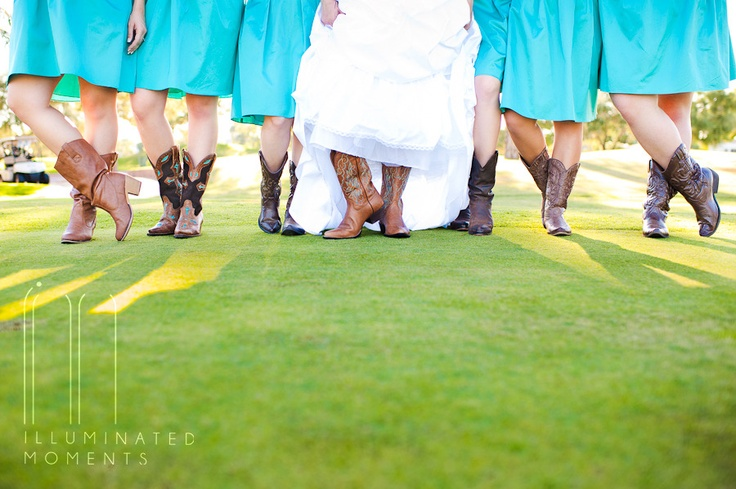 © Illuminated Moments | Cute, Country Wedding - Cowgirl wedding boots