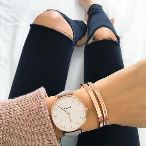 cluse watch + kate spade