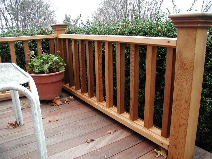 Wood Deck Idea Porch Railing See 100s of Deck Railing