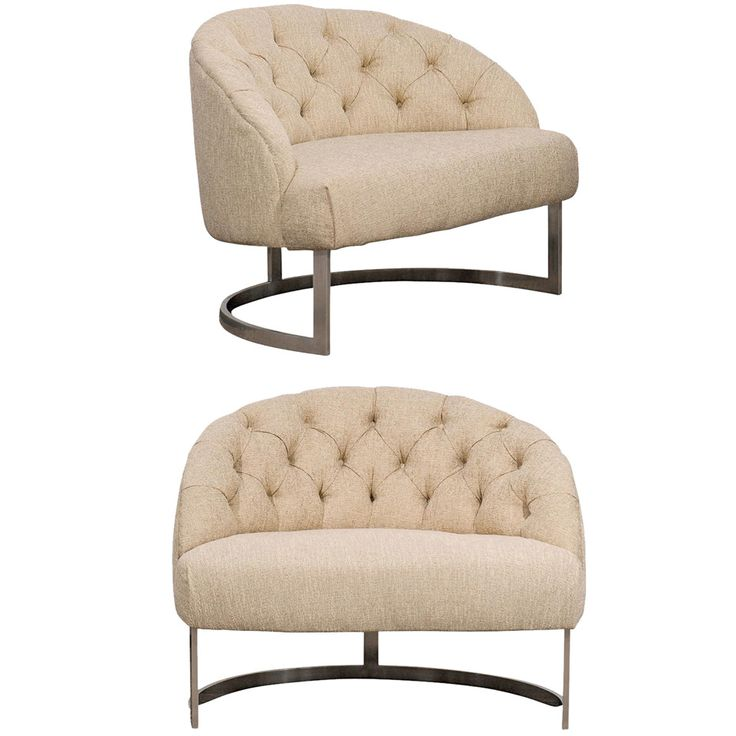 Pair Of Overscale Tufted Lounge Chairs In The Style Of Harvey Probber