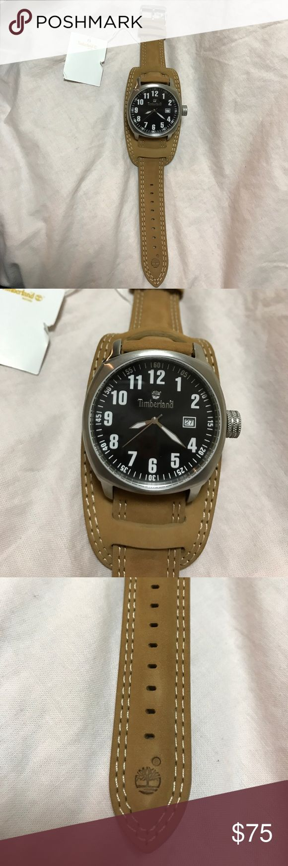 Men's Timberland Watch Brown Timberland Watch, never worn! Comes with box, battery needs to be changed. Timberland Accessories Watches