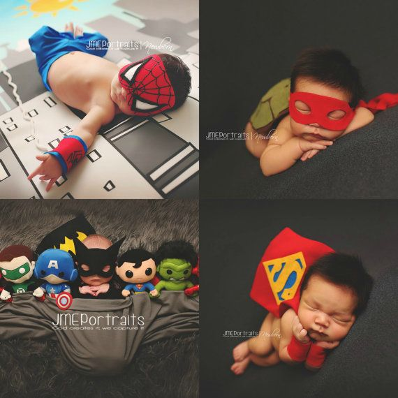 Newborn Spider-Man, TMNT & Batman and Superman Superhero Costumes Baby Boy, Buy More Save More, DC Comics, Marvel Comics, Photography Props