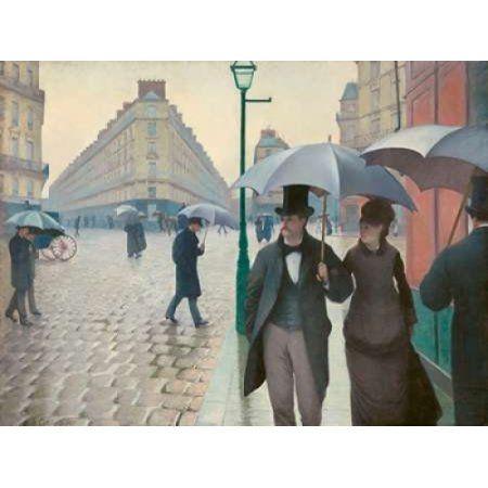 Posterazzi Paris Street rainy day Canvas Art - Gustave Caillebotte (22 x 28)