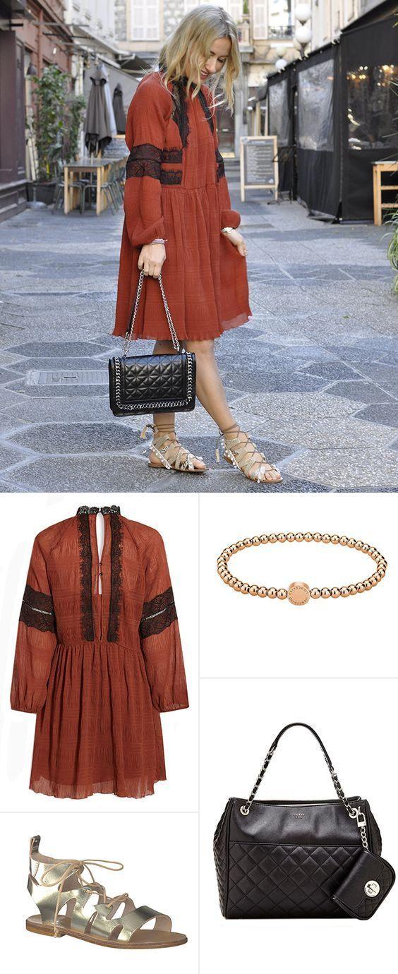 Bloggerin Dani Nanaa ist gerne unterwegs und bringt immer die neuesten Reiseoutfit-Trends mit. Für den lässigen Citytrip hat sie ein außergewöhnliches Outfit zusammengestellt: Hier trifft das coole Vintagekleid auf Römersandalen, süße Armbänder und elegante Taschen. Zum Nachstylen! – Maike