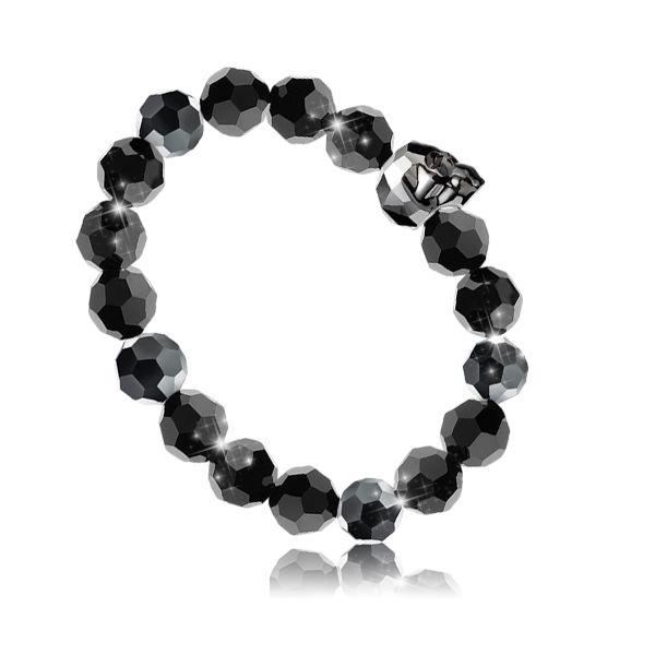 Karkötő inspiráció #Swarovski #5750 Koponya gyöngy, és #5000 kristály gyöngyökből.