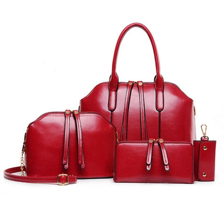 75.56$  Buy here - http://vital.justgood.pw/vig/item.php?t=mok67q24301 - 4 Sets Composite Bag Women PU Leather Handbag Bags Good Messenger Bags Day Clutc 75.56$