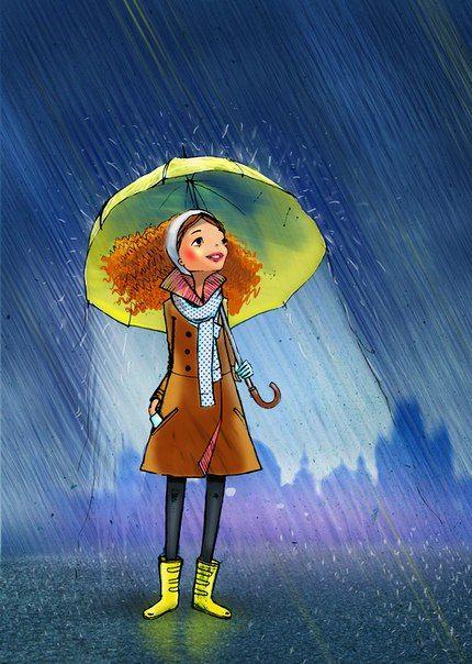 Disfrutando la lluvia
