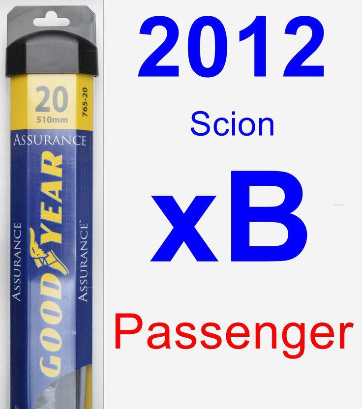 Passenger Wiper Blade for 2012 Scion xB - Assurance