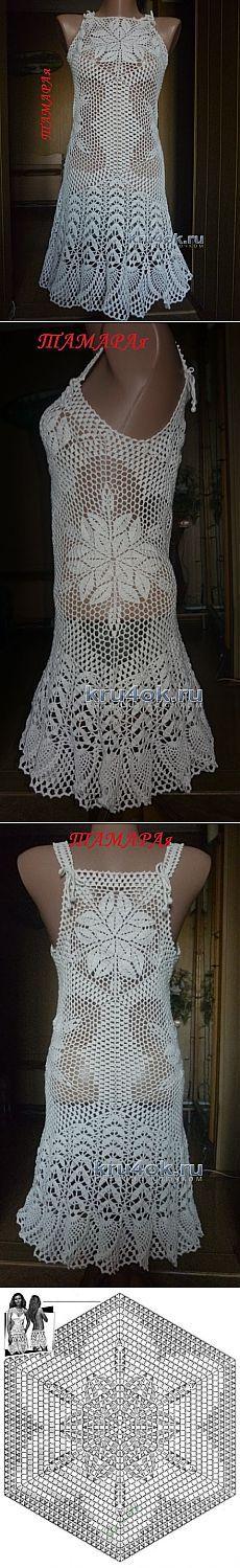 Dress crochet - work Tamara BORDUNOVA - Crochet on kru4ok.ru