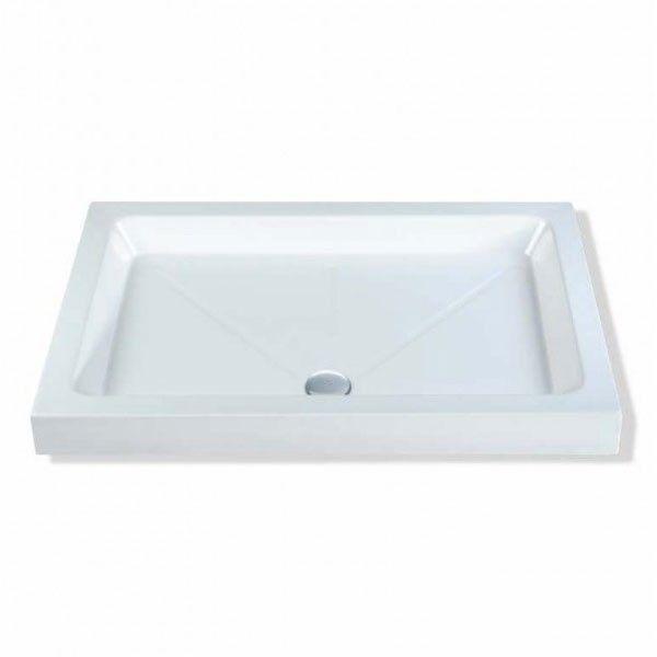 Mx Classic 1000x800mm Rectangular Flat Top Shower Tray - White