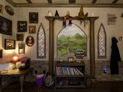 From the Harry Potter Gryffindor Dorm Bedroom-- A fan's dream come true...!